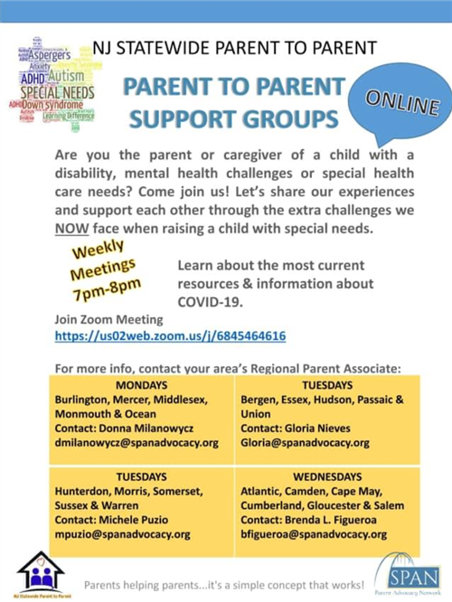 Parent-to-Parent Support Groups